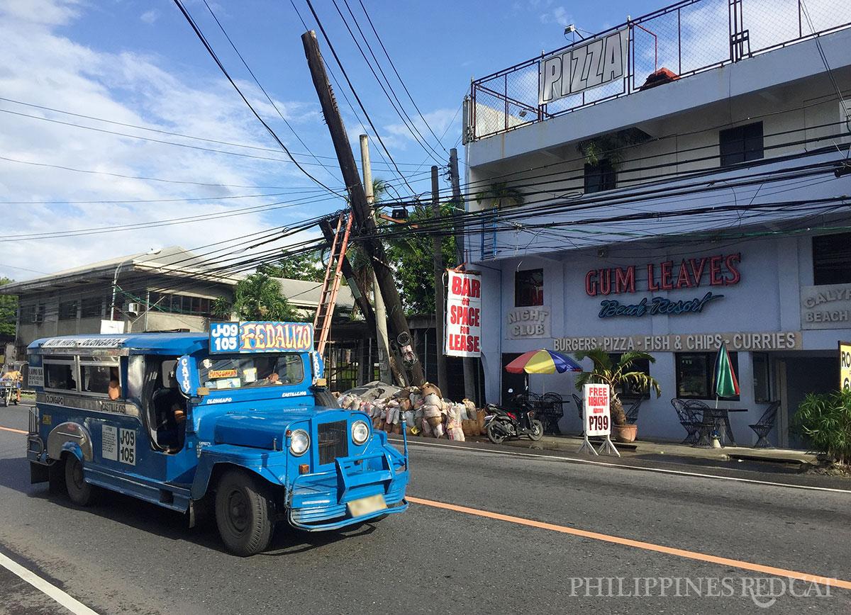 Blue Jeepney in Barrio Barretto