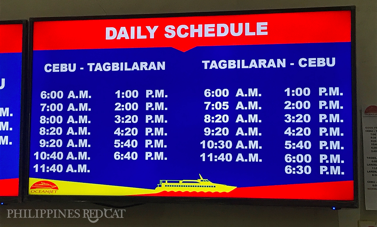 Cebu to Bohol Ferry Schedule