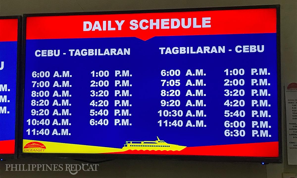 Horaires du Ferry de Cebu à Bohol