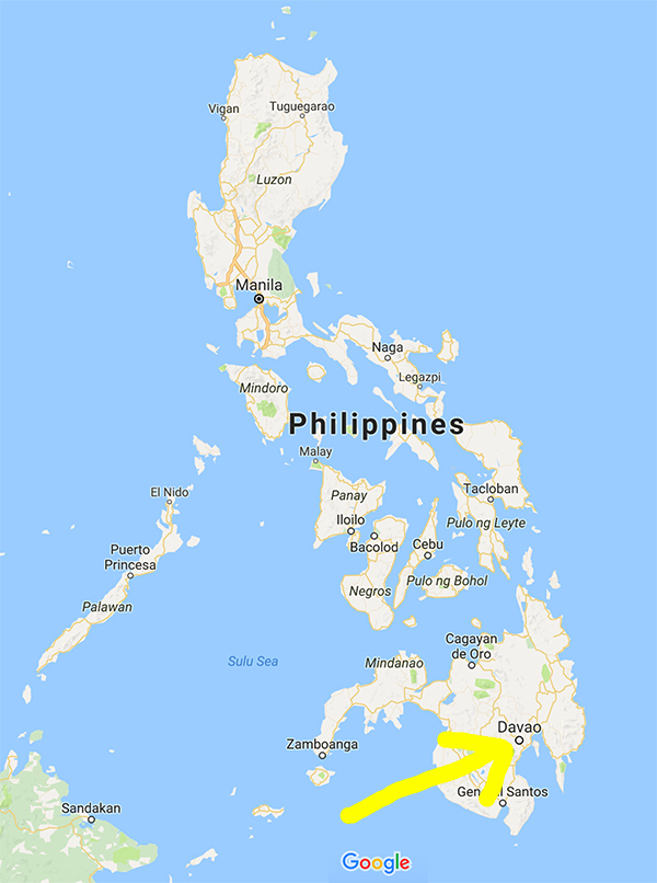 Location de Davao