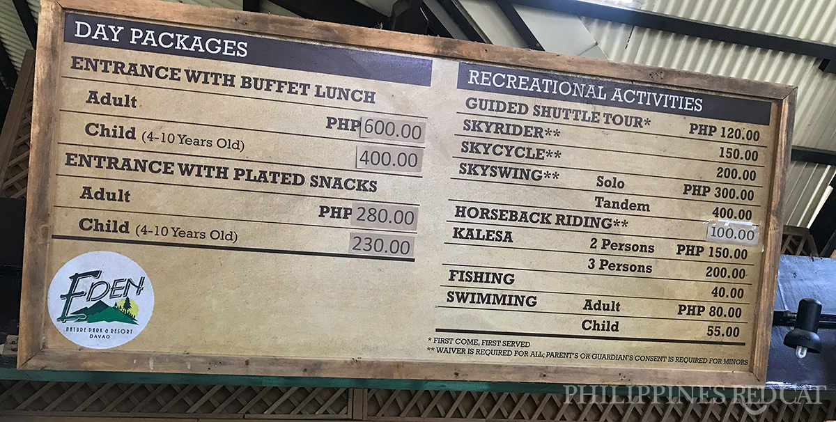 Eden Nature Park Prices