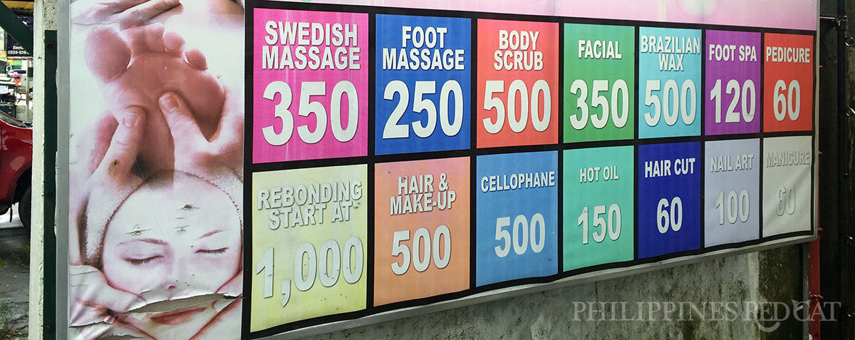 Subic Massage Prices
